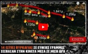 Στα ίχνη των εμπρηστών-Βίντεο από τους δορυφόρους αποκαλύπτει σχέδιο στοχευμένων εστιώνφωτιάς