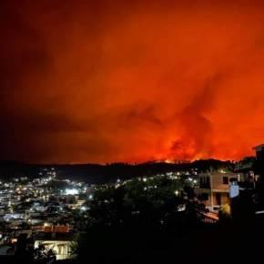 Φωτιά Λίμνη Ευβοίας: Ολοκαύτωμα με καμένα σπίτια και χωριά σε Προκόπι Ροβιές Όσιο Δαυίδ (Βίντεο –Φώτο)
